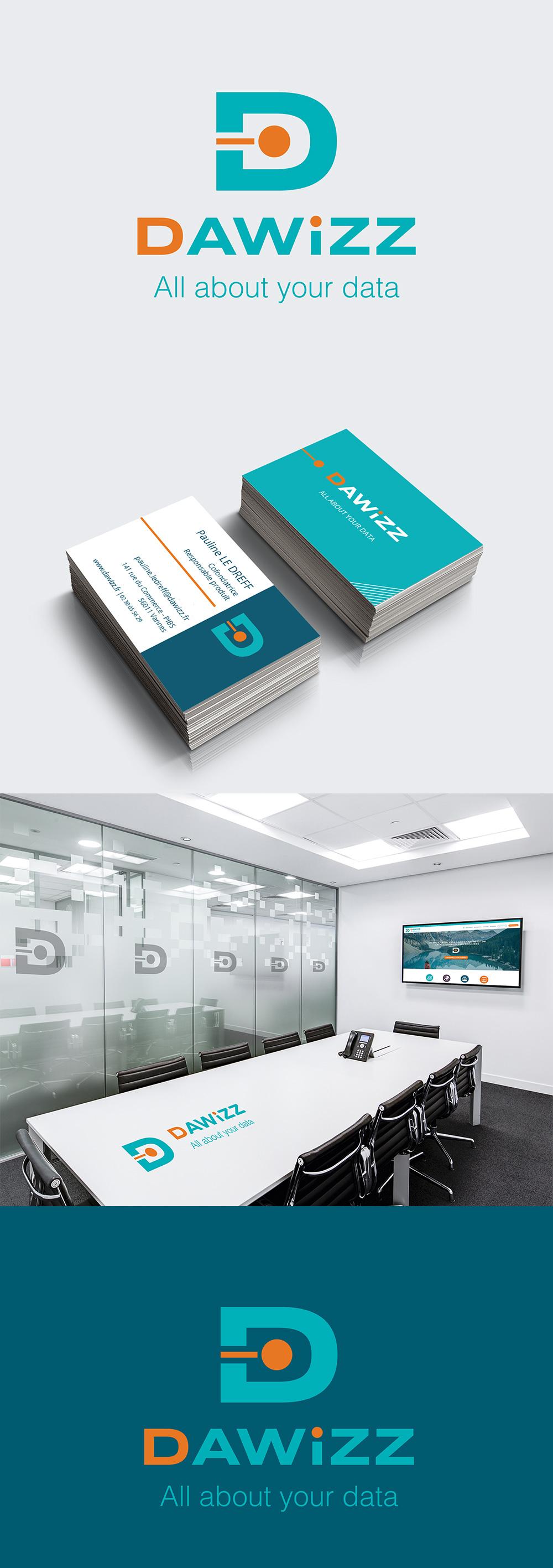 Identité visuelle - Dawizz - Logotype et identité visuelle réalisés par Turkoiz Créations by Valérie Perrodo