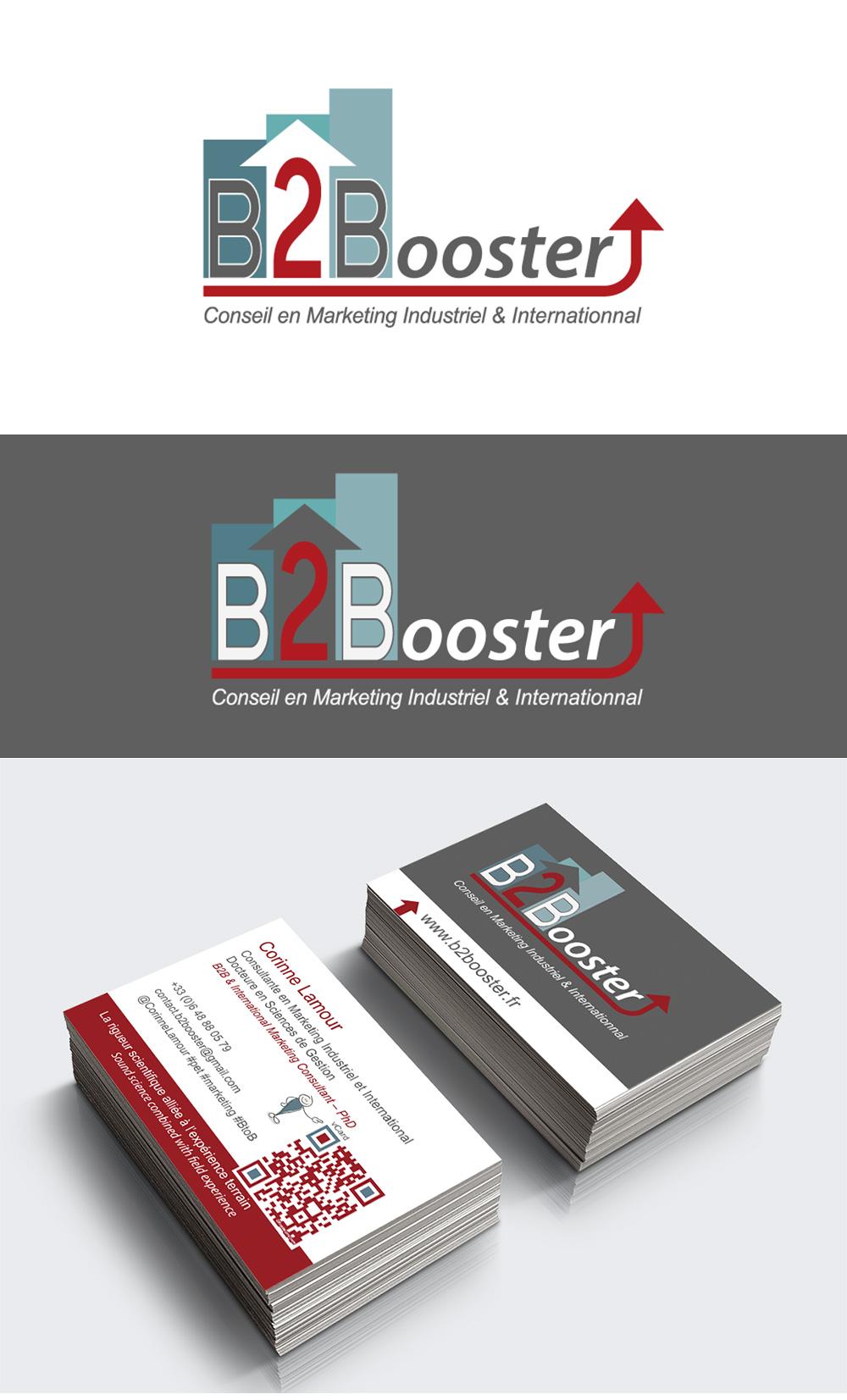 Identité visuelle - B2Booster - Logotype et carte de visite par Turkoiz Créations by Valérie Perrodo