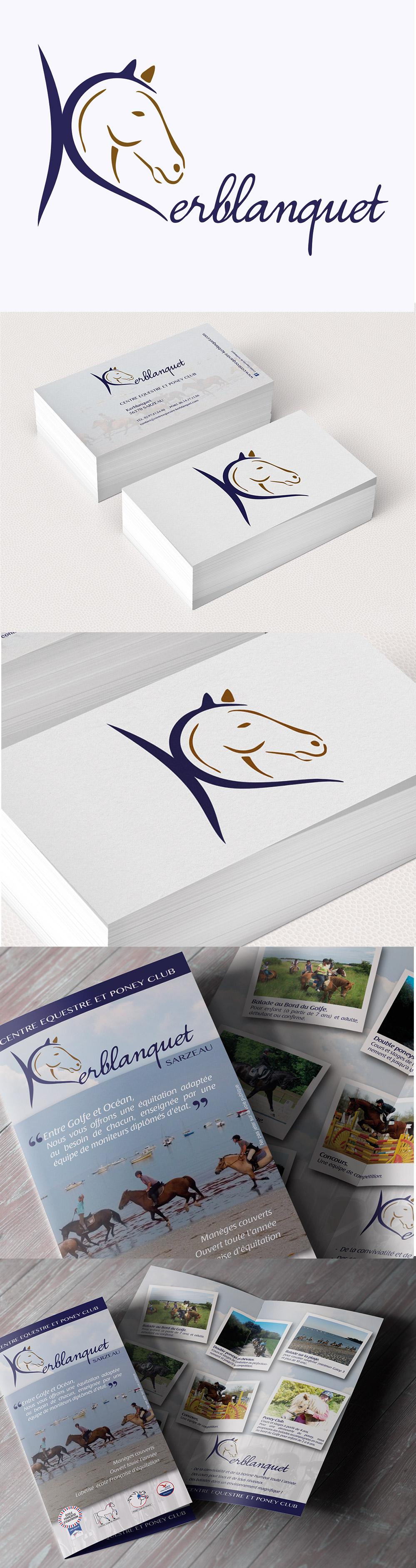 Identité visuelle et création graphique - Kerblanquet - Sarzeau - Logotype et flyer réalisés par Turkoiz Créations by Valérie Perrodo