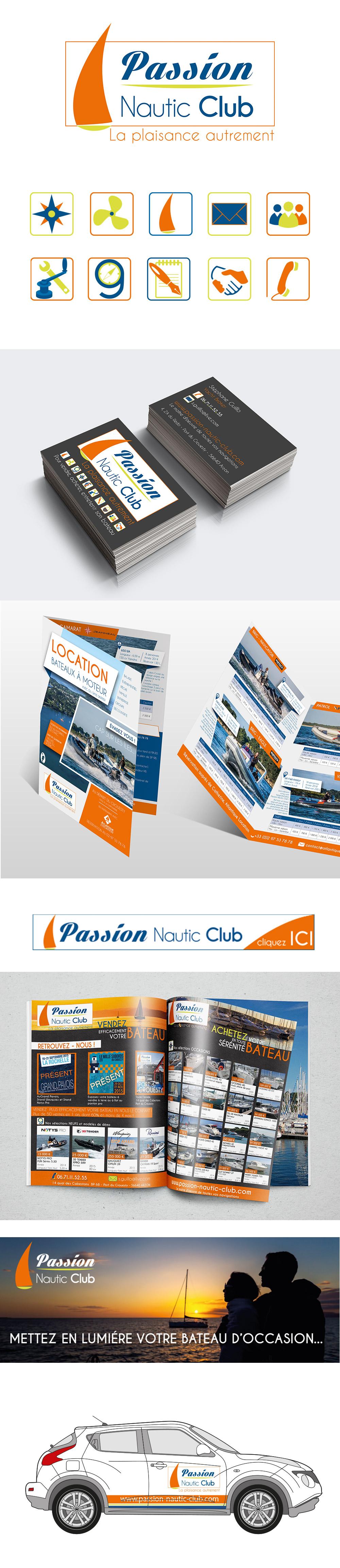 Identité visuelle - Passion Nautic Club - réalisée par Turkoiz Créations by Valérie Perrodo