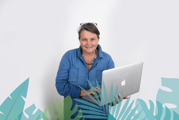 Valérie Perrodo fondatrice de Turkoiz Créations - Graphiste Webdesigner Chef de projet digital à Sarzeau dans le Morbihan