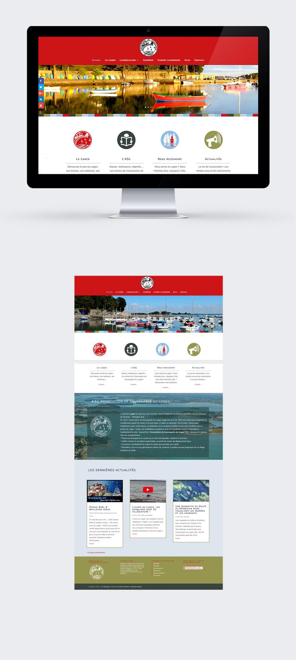 Webdesign - Association du Logeo - site internet réalisé par Turkoiz Créations by Valérie Perrodo