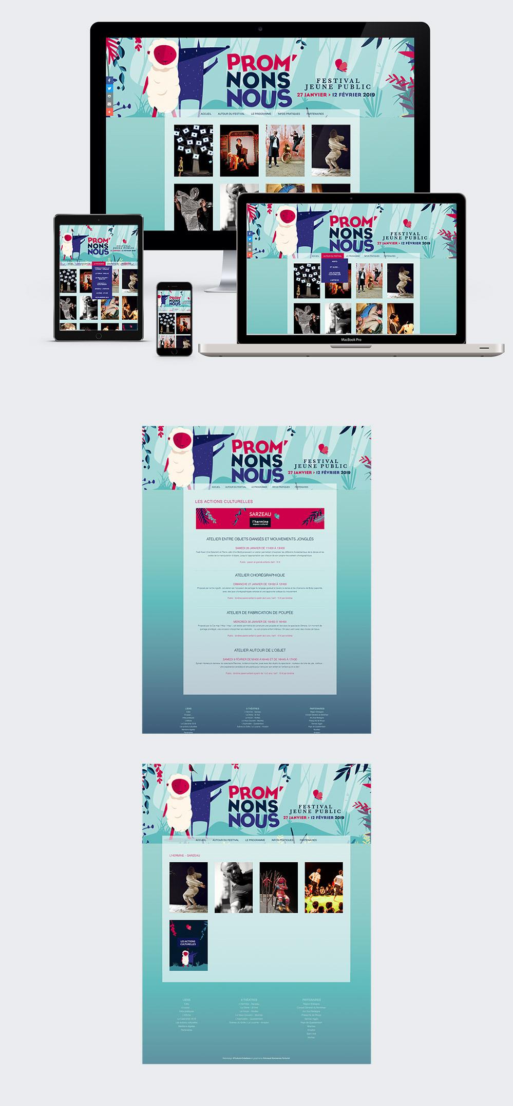 Webdesign - Festival Promnons Nous - site internet réalisé par Turkoiz Créations by Valérie Perrodo