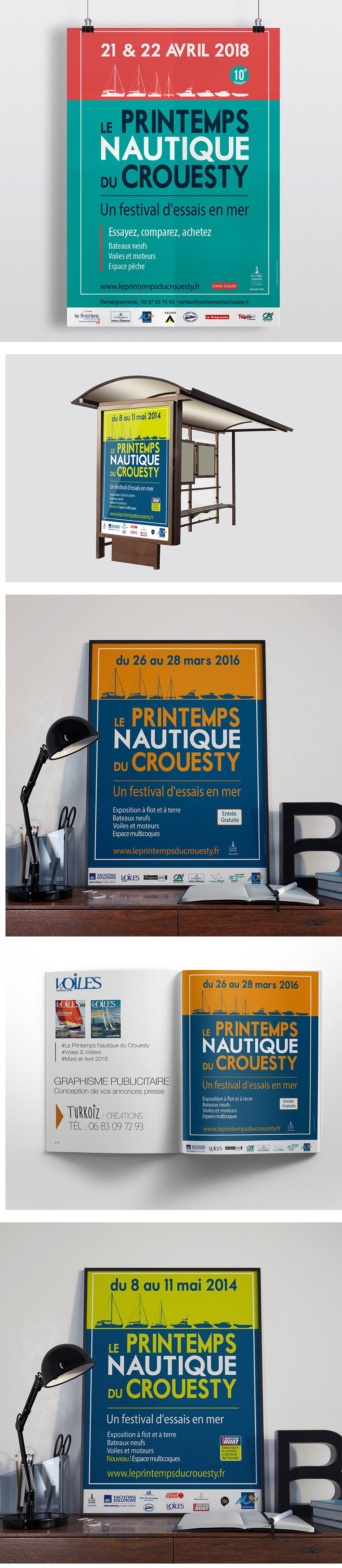 Identité Visuelle et Création Graphique - Printemps Nautique du Crouesty par Turkoiz Créations by Valérie Perrodo