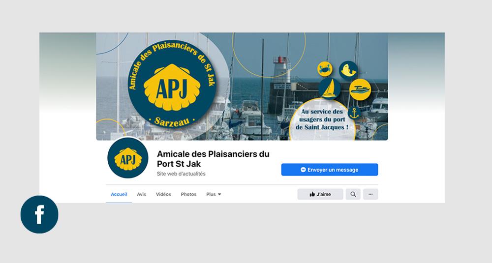 Turkoiz-Creations - Identité visuelle de l'APJ - Amicale des plaisanciers du port de saint Jack