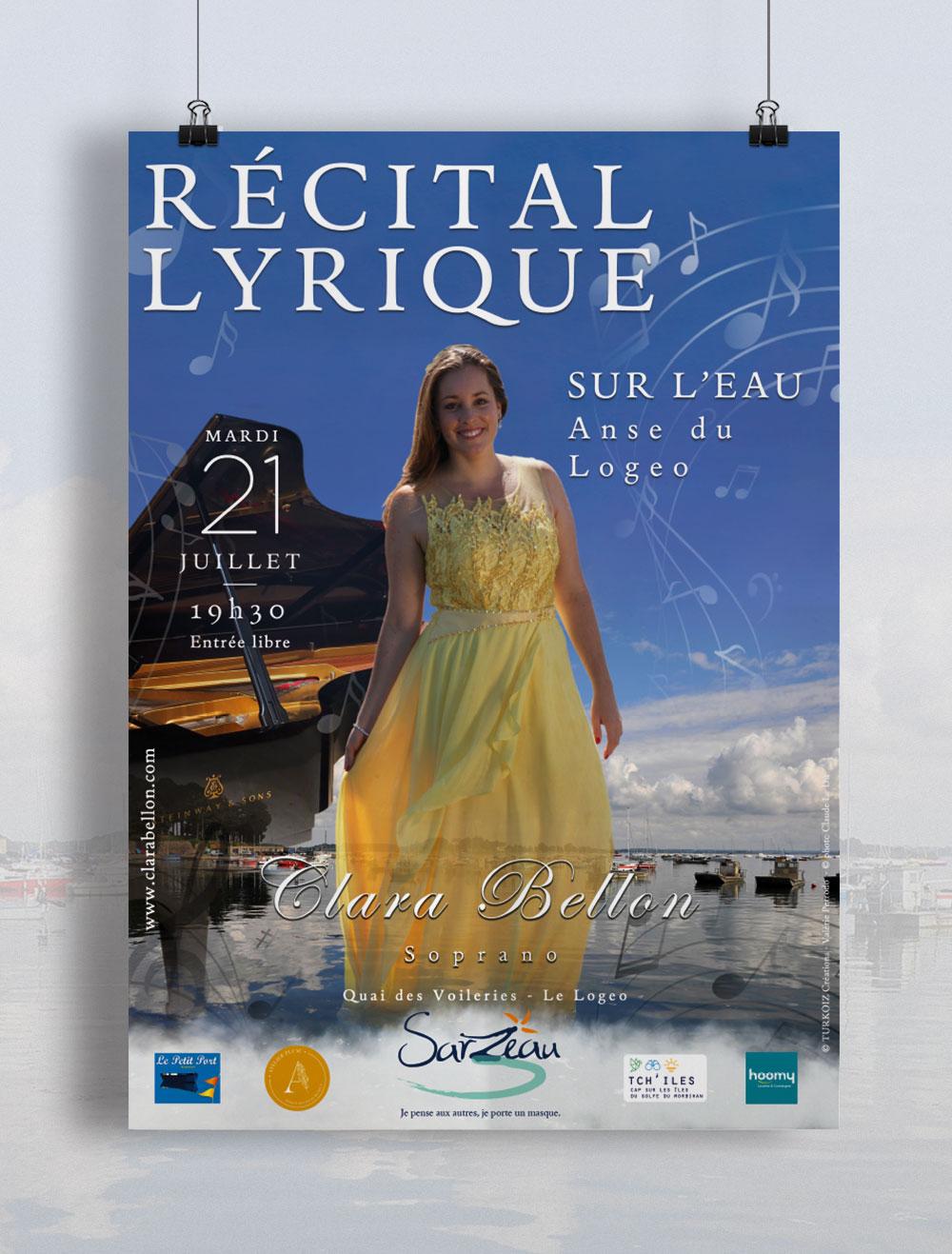 Turkoiz Creations - Affiche récital lyrique sur l'eau de Clara Bellon soprano