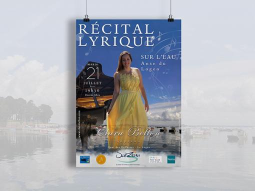 """Clara Bellon <span class=""""soustitre""""> Récital lyrique sur l'eau</span>"""