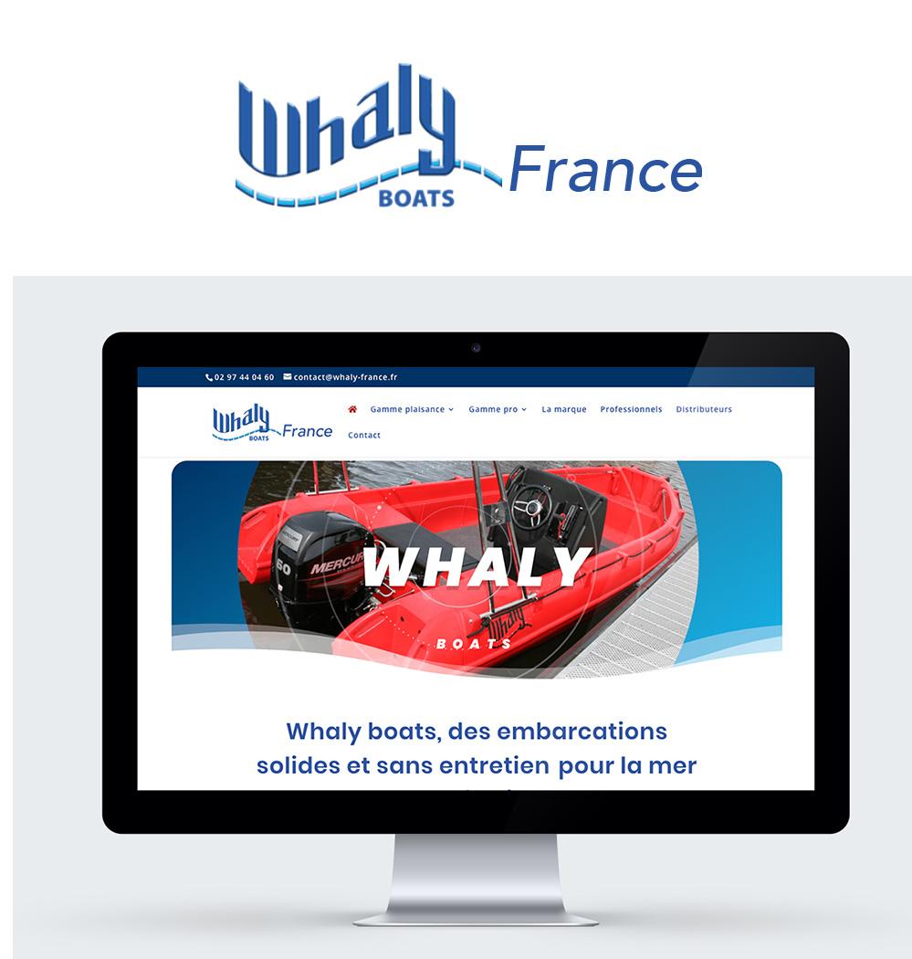 Whaly France - Site internet réalisé par Turkoiz Créations by Valérie Perrodo